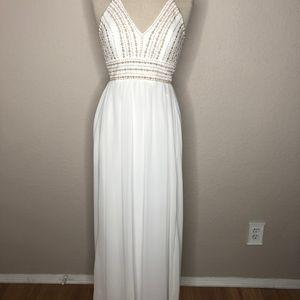 56ec99ac38 Lulu s Dresses - Lulus Meet Me in Madrid White Beaded Maxi Dress